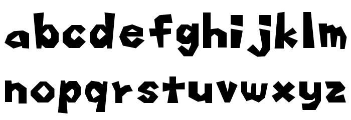 New Super Koopa Bros Wii Regular Font LOWERCASE