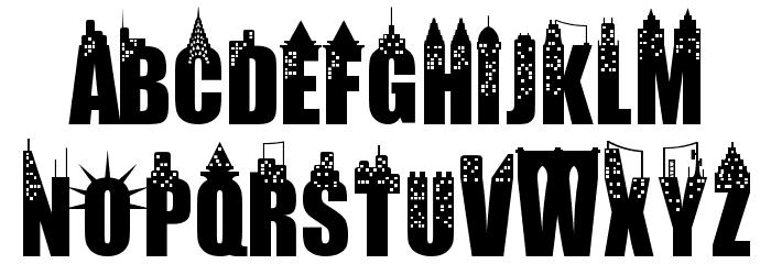 New York City Font UPPERCASE