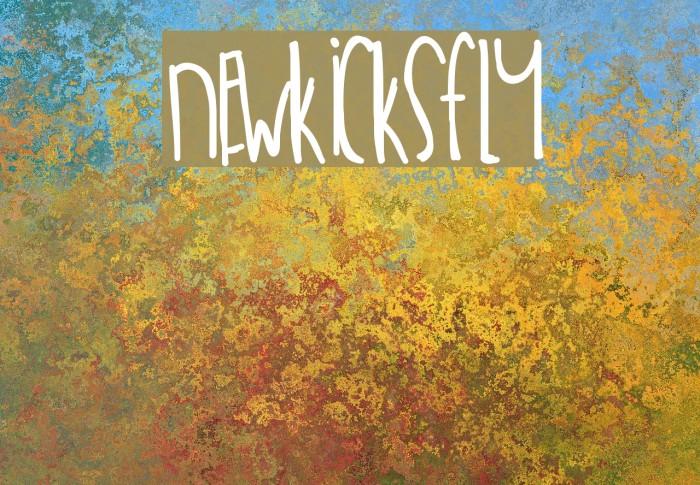 NewKicksFly Font examples