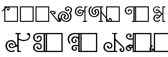 NewMaori フォント 大文字