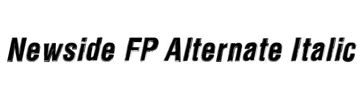 Newside FP Alternate Italic Font