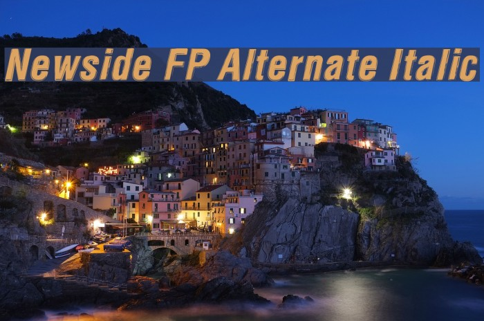 Newside FP Alternate Italic Font examples