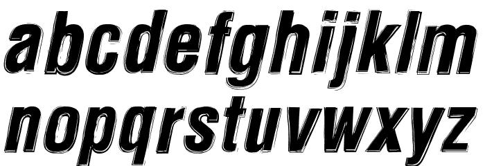 Newside FP Alternate Italic Font LOWERCASE