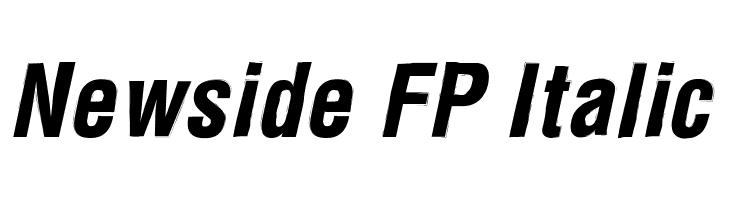 Newside FP Italic  Descarca Fonturi Gratis