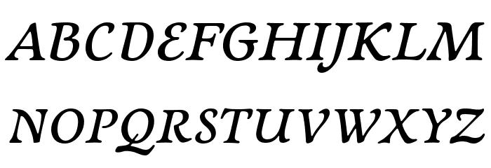 NewtSerifDemi-Italic Fonte MAIÚSCULAS