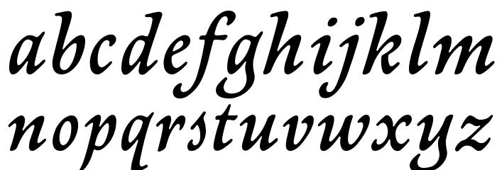 NewtSerifDemi-Italic Fonte MINÚSCULAS