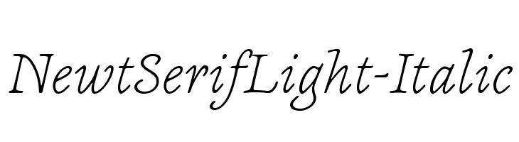 NewtSerifLight-Italic Fonte