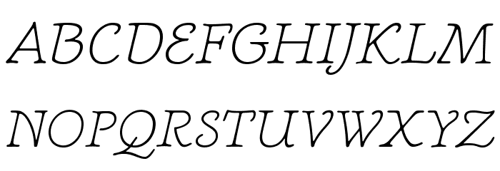 NewtSerifLight-Italic Fonte MAIÚSCULAS