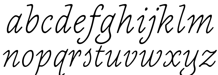 NewtSerifLight-Italic Fonte MINÚSCULAS