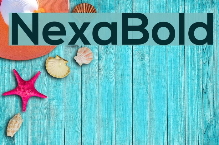 NexaBold Fonte examples