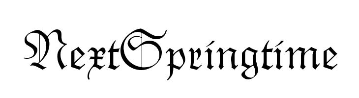 NextSpringtime  Free Fonts Download