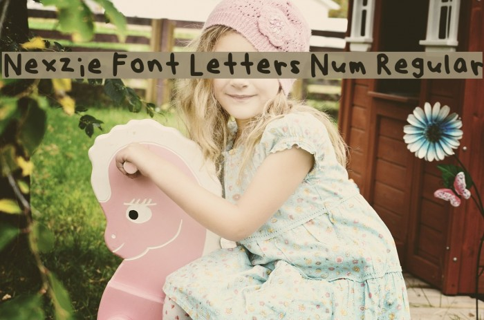 Nexzie Font Letters Num Regular フォント examples