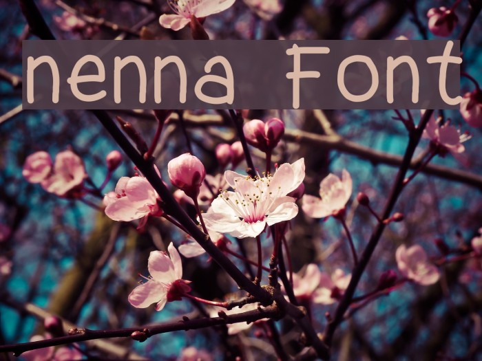 nenna Font examples