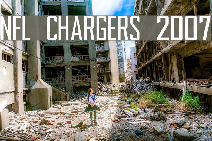 NFL Chargers 2007 Font examples