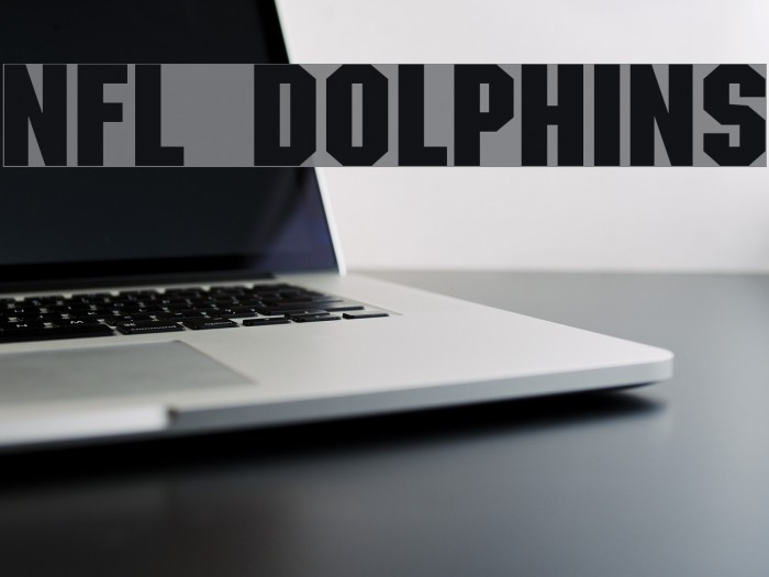 NFL Dolphins Font examples