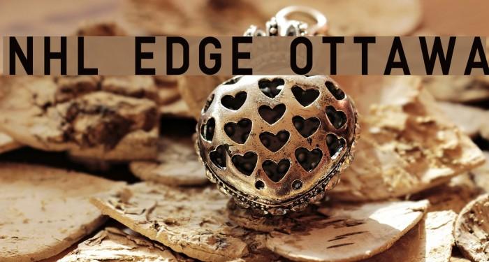 NHL Edge Ottawa Font examples
