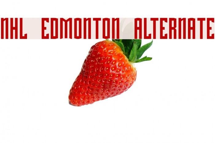 NHL Edmonton Alternate Font examples