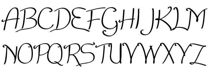 Nice Written Font UPPERCASE