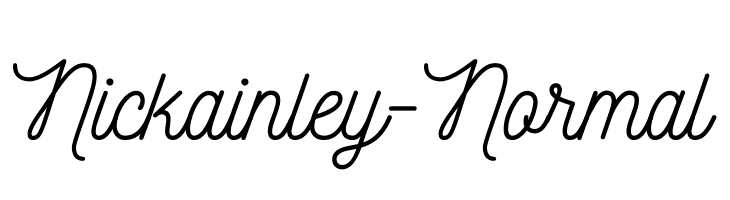Nickainley-Normal  Free Fonts Download