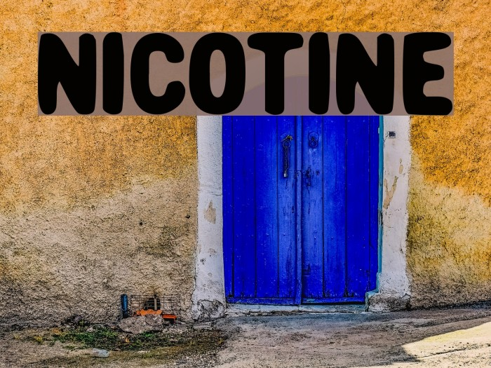 Nicotine Polices examples
