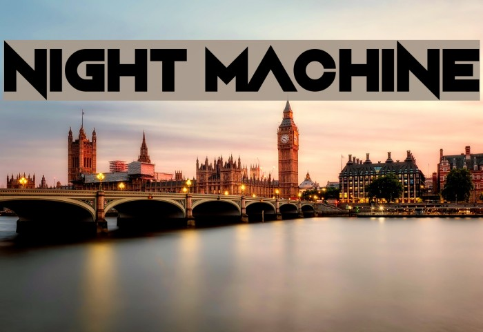 Night Machine Font examples