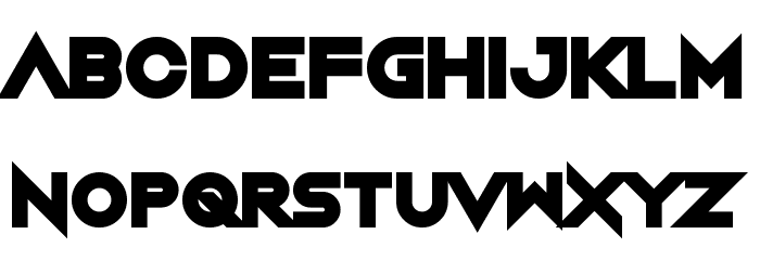 Night Machine Font LOWERCASE