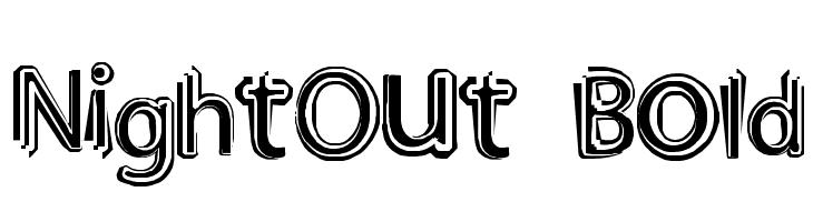 NightOut Bold  Frei Schriftart Herunterladen