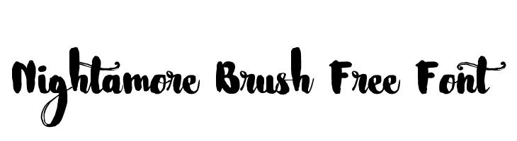Nightamore Brush Free Font  Frei Schriftart Herunterladen