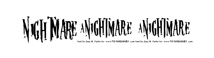 Nightmare-5  Free Fonts Download