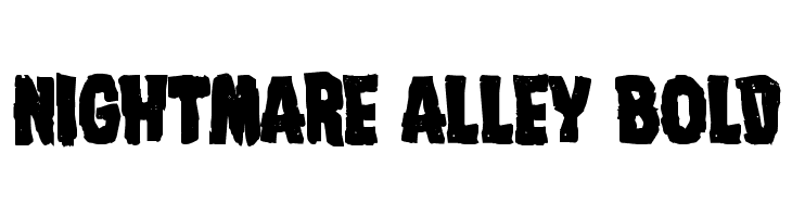 Nightmare Alley Bold Font