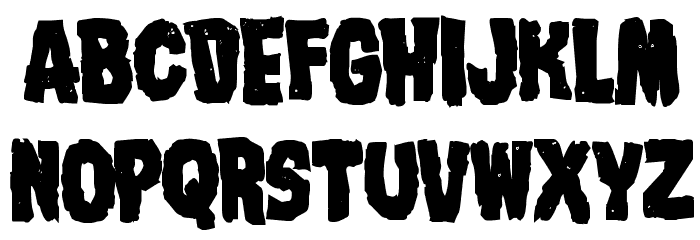 Nightmare Alley Bold Font LOWERCASE