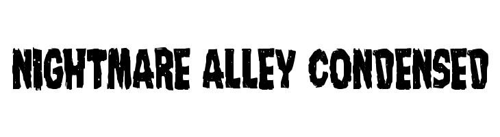 Nightmare Alley Condensed  Free Fonts Download