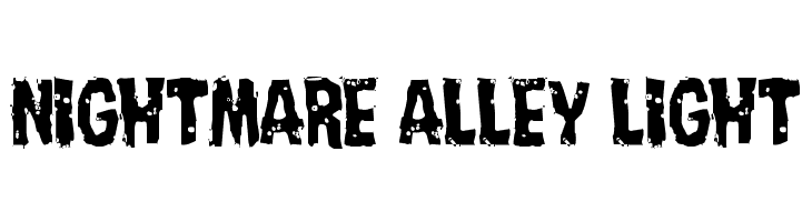 Nightmare Alley Light  Free Fonts Download