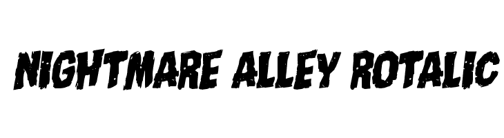 Nightmare Alley Rotalic  Free Fonts Download