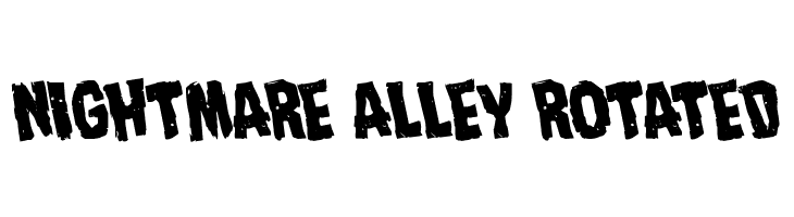 Nightmare Alley Rotated  font caratteri gratis