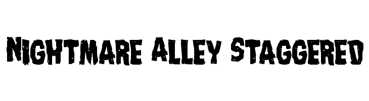 Nightmare Alley Staggered  Free Fonts Download