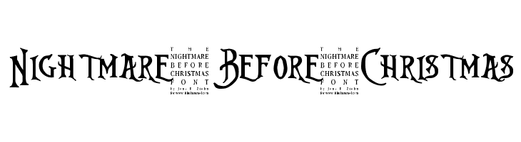 Nightmare-Before-Christmas Font