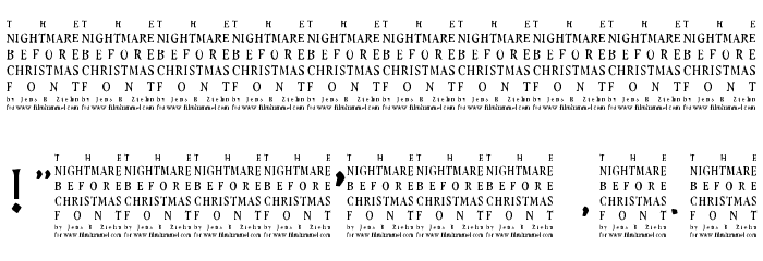 Nightmare-Before-Christmas Font OTHER CHARS