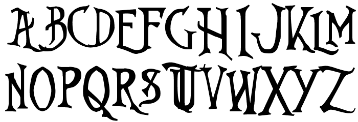 Nightmare-Before-Christmas Font UPPERCASE