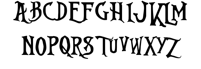 Nightmare-Before-Christmas Font LOWERCASE