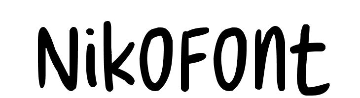NikoFont  les polices de caractères gratuit télécharger