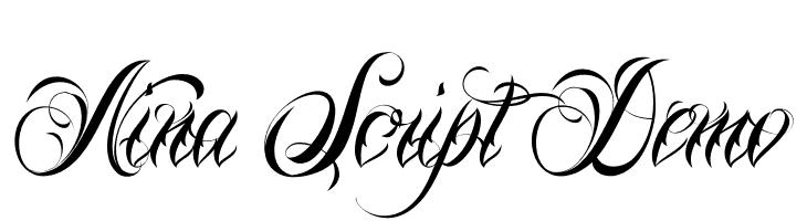 Nina Script Demo  Скачать бесплатные шрифты