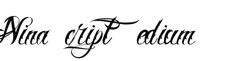 Nina Script  Medium  Free Fonts Download