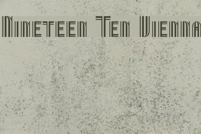 Nineteen Ten Vienna Fonte examples