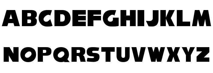 NiseSonic Font UPPERCASE