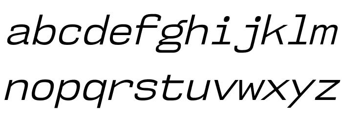 NK57MonospaceBk-Italic Font LOWERCASE