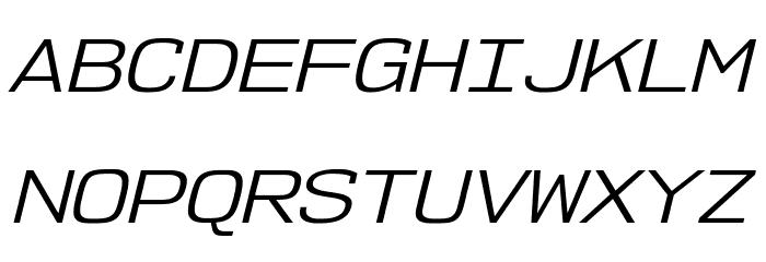 NK57MonospaceExBk-Italic Font UPPERCASE
