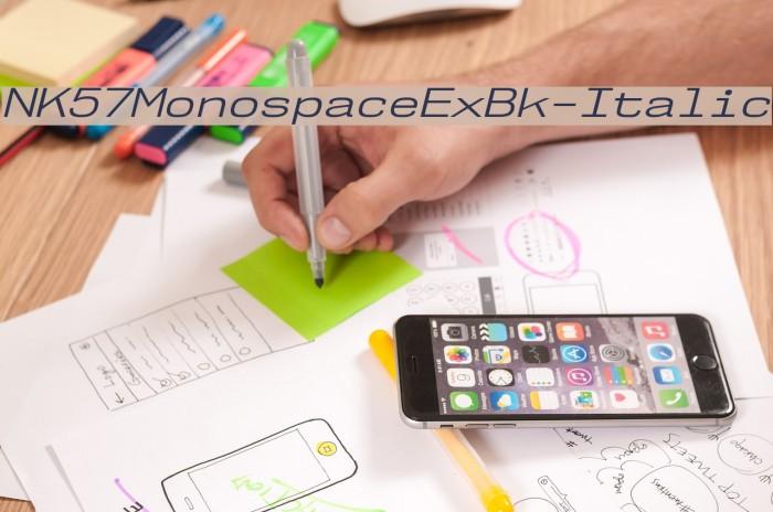 NK57MonospaceExBk-Italic Шрифта examples