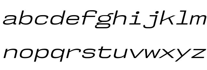 NK57MonospaceExBk-Italic Шрифта строчной