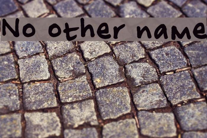 No other name Font examples
